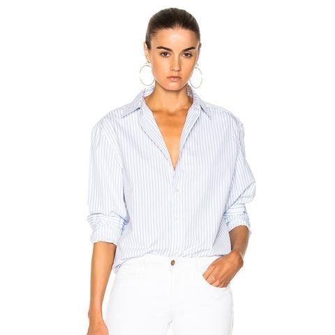 Striped Worn-In Button Down Shirt