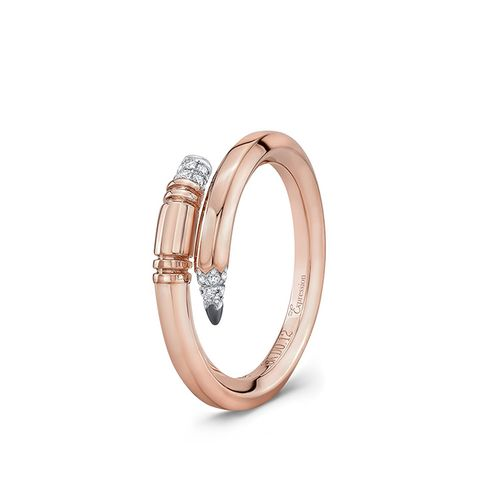 Rose Gold Small Gauge Ring