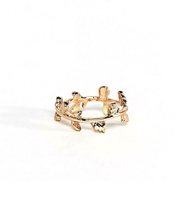 Leaf & Floral Wrap Pinky Ring