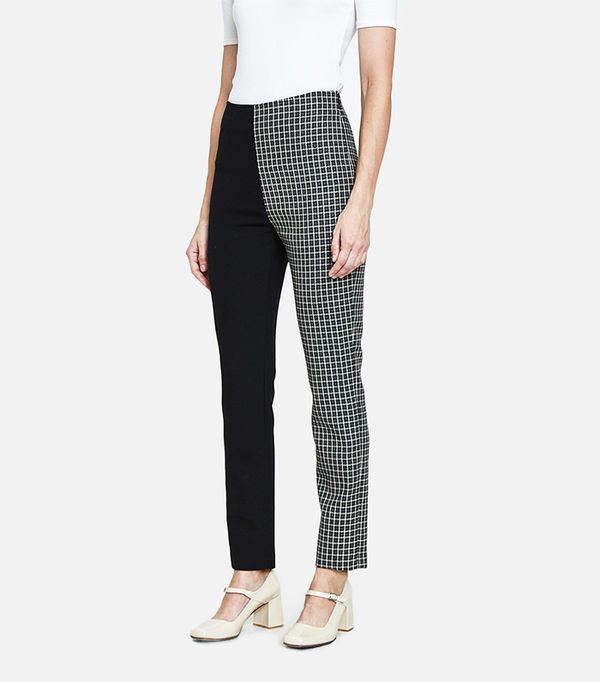 Dorsa Slim Trousers in Plaid