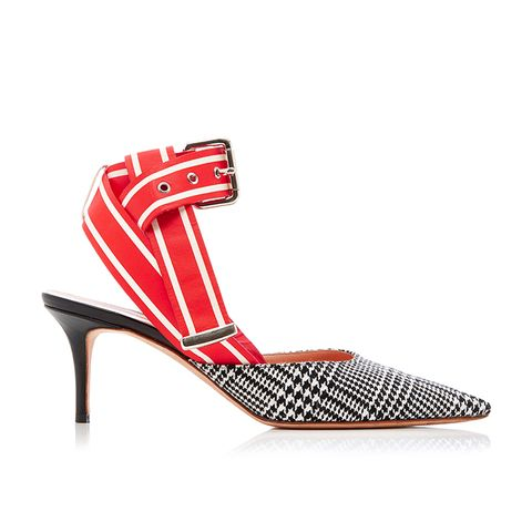 Glen Plaid Racing Strap Kitten Heel