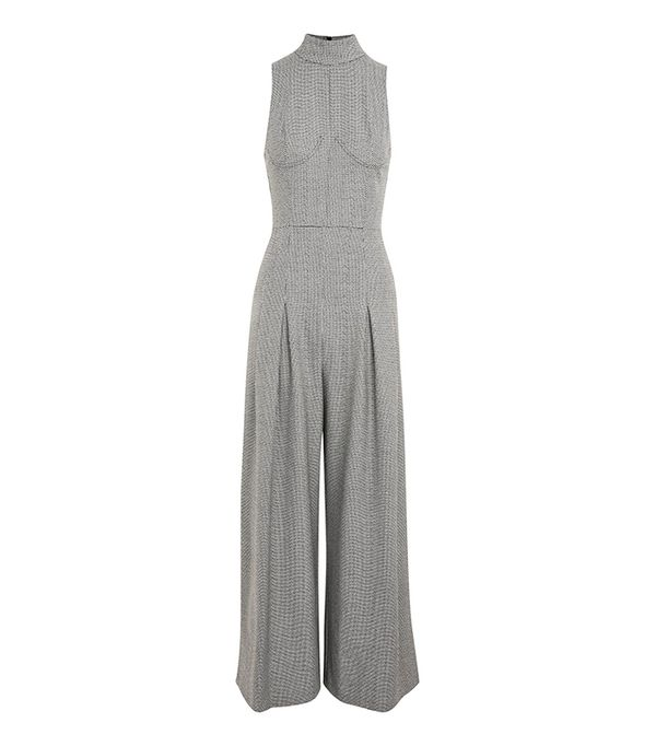 Dogtooth Checked Jumpsuit