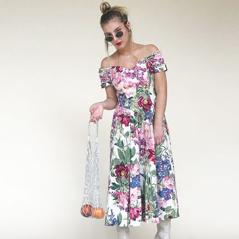 Floral Off the Shoulder Party Dress