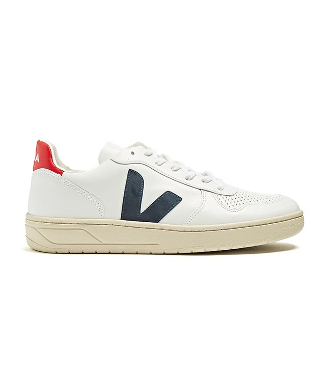 V-10 low-top leather trainers