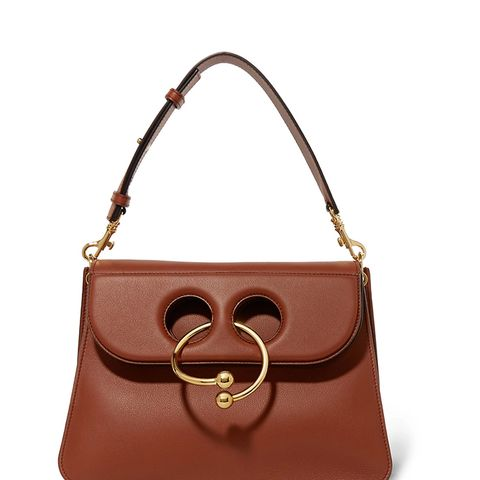 Pierce Medium Leather Shoulder Bag