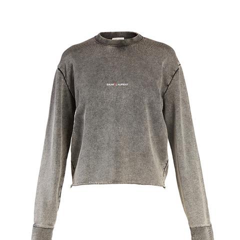 Raw Hem Washed Sweatshirt