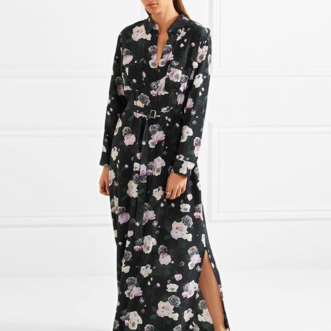 Major Printed Washed-Silk Maxi Dress
