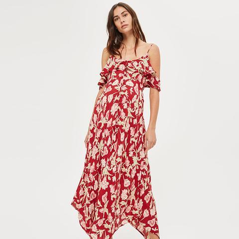 Floral Handkerchief Maxi Dress