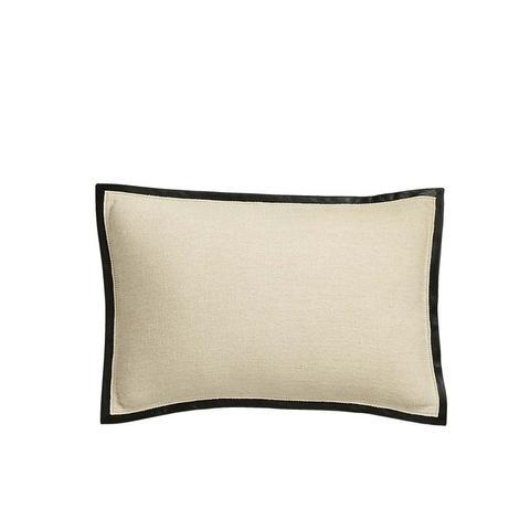 Delaney Beige Linen Pillow With Down-Alternative Insert