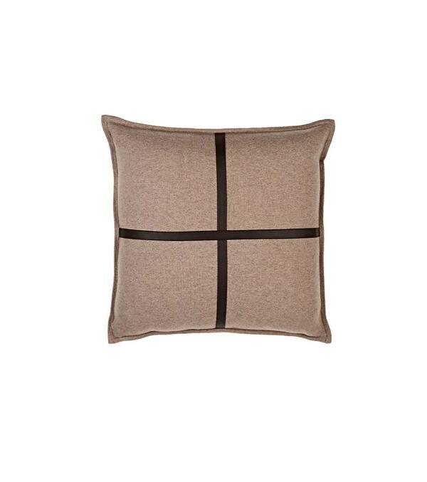 Sardinia Cashmere & Leather Pillow
