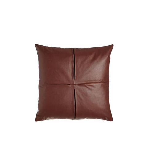 Faux-Leather Pillow
