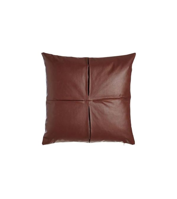 "Faux-Leather Pillow, 26""Sq."