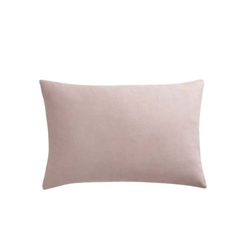 Loki Blush Leather Pillow With Down-Alternative Insert