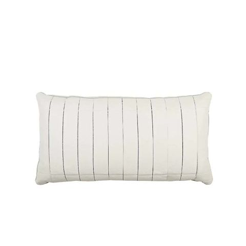 Aline Leather-Front Pillow