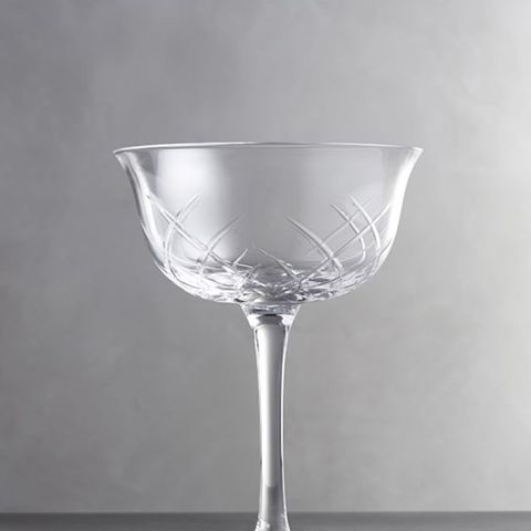 Monique Lhuillier Avril Small Cut Glass Coupe, Set of 4
