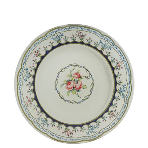 Triple Rose Round Plate