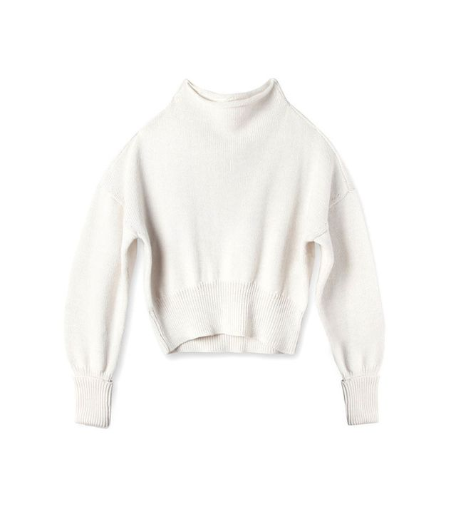 M. Martin Cropped Slouchy Roll Neck Sweater