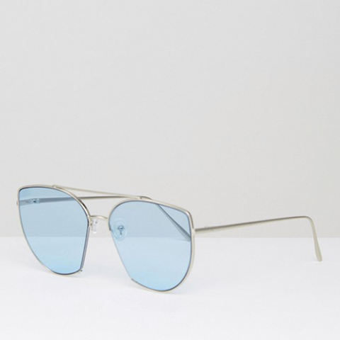 Metal Kitten With Cut Away and Highbar in Blue Colored Lens