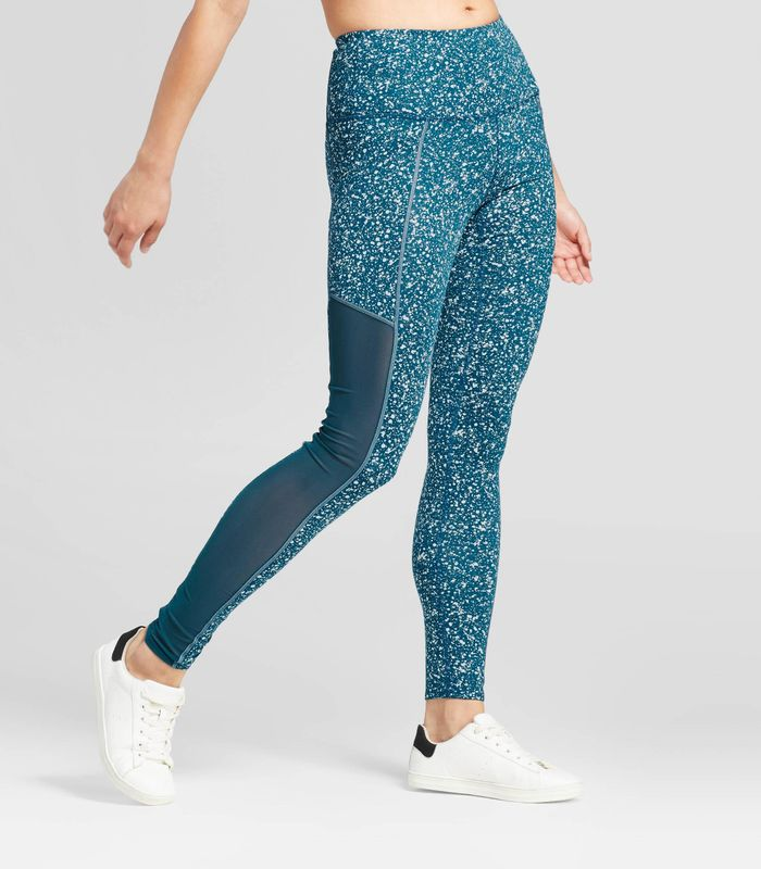Premium High Waist Mesh Splatter Leggings by JoyLab