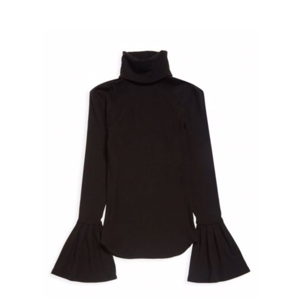Paige Kenzie Ribbed Turtleneck With Bell Sleeves