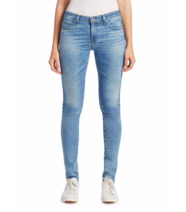 AG Farrah High-Rise Ankle Jeans with Raw Hem