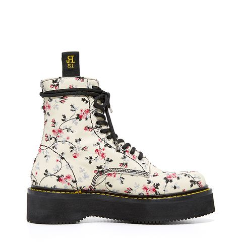 Floral Embroidery Single Stack Boots