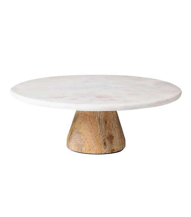 Target Marble & Acacia Cake Stand