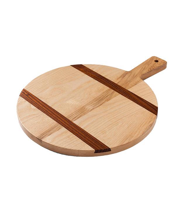 Target Two-Tone Wood Inlay Round Cutting Board