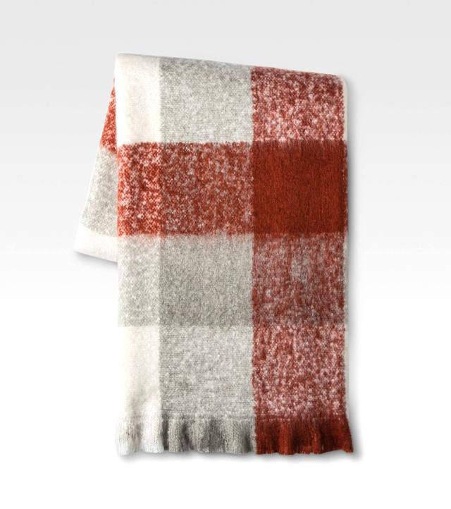 Target Orange Faux Mohair Throw Blankets