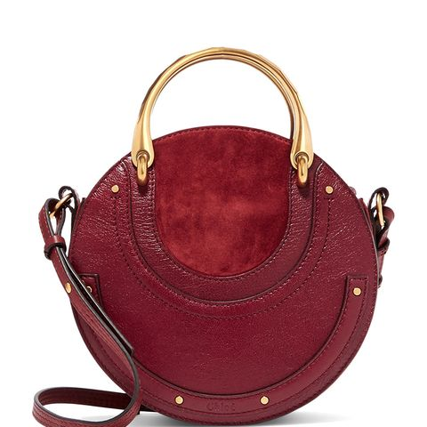 Pixie Textured-Leather and Suede Shoulder Bag