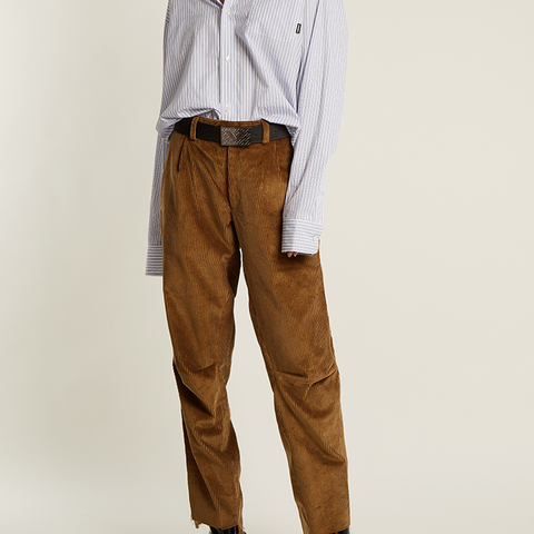 Oversized Cotton-Corduroy Trousers