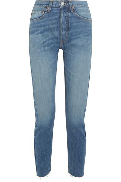 Originals High-rise Ankle Crop Slim-leg Jeans