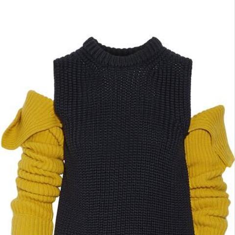 Cutout Wool Sweater