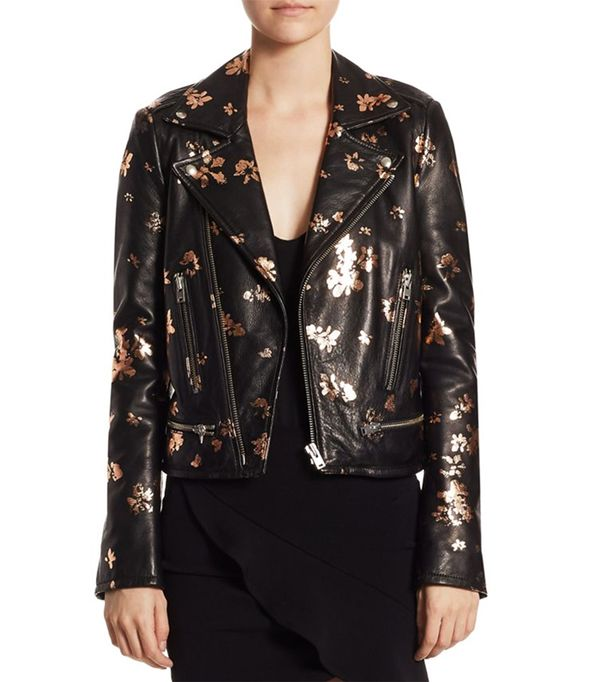 Iro Phedra Painted Leather Jacket