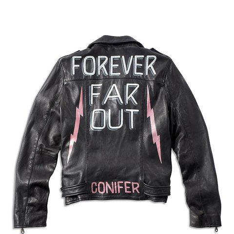 Ornamental Conifer Leather Jacket