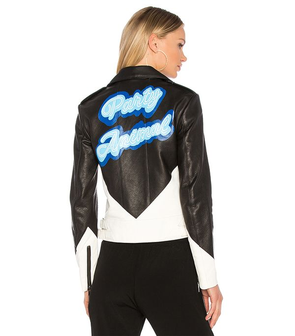 The Mighty Company x Revolve The Vienne Party Animal Jacket in Black. - size XS (also in S,M)