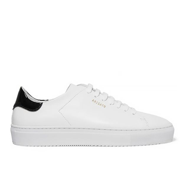 Clean 90 Patent-trimmed Leather Sneakers
