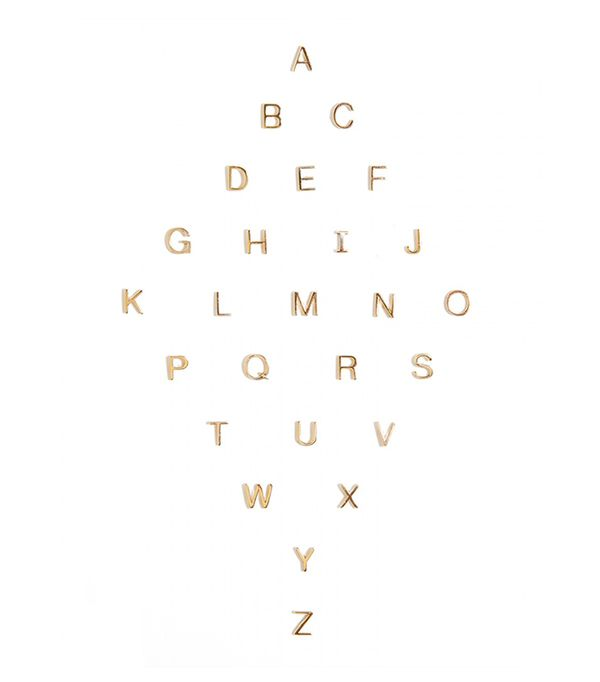 Maya Brenner Alphabet Studs
