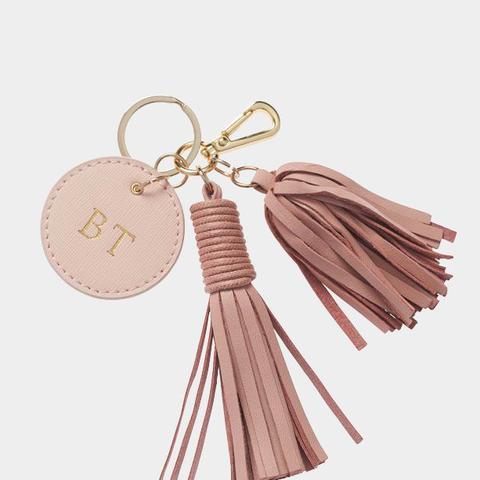 Pale Pink Tassel Keychain