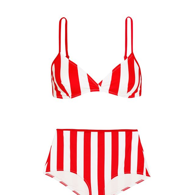 The Brigitte Striped Bikini