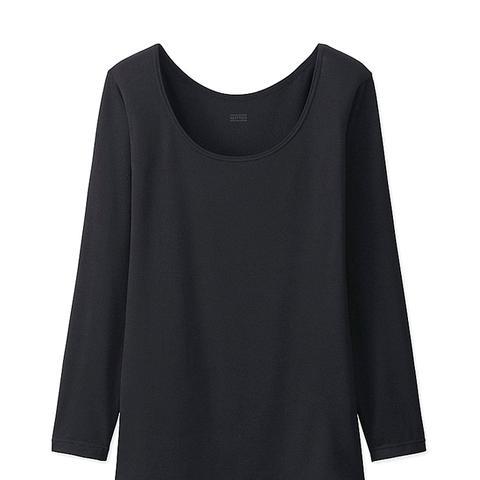 Heattech Scoop Neck T-Shirt