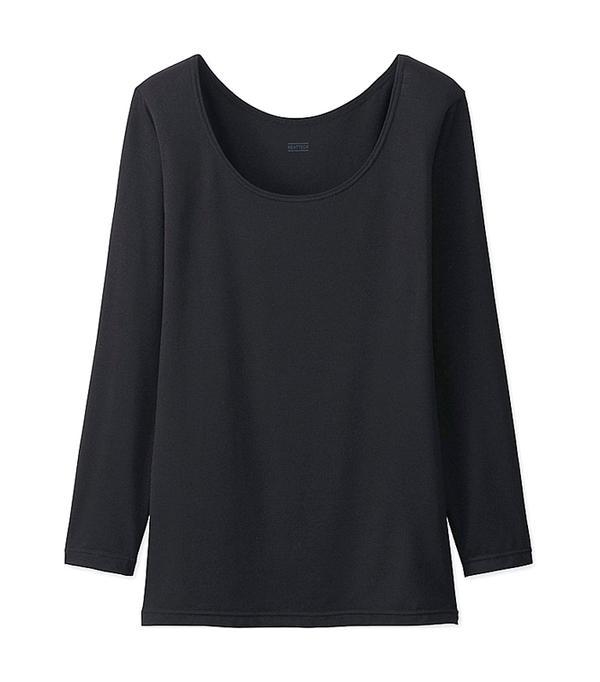 Women Heattech Scoop Neck T-Shirt