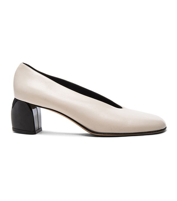 Tibi Leather Gene Heels