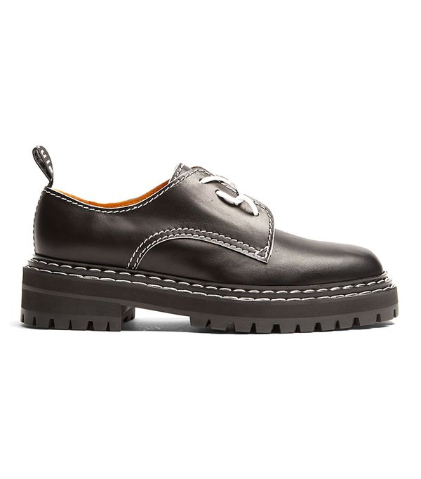 Proenza Schouler Trek-Sole Leather Derby Shoes