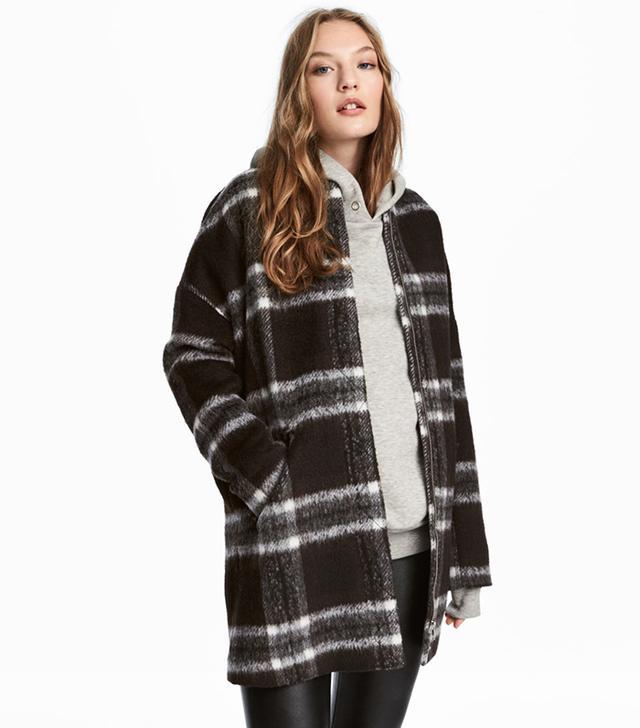 H&M Coat in Bouclé Yarn