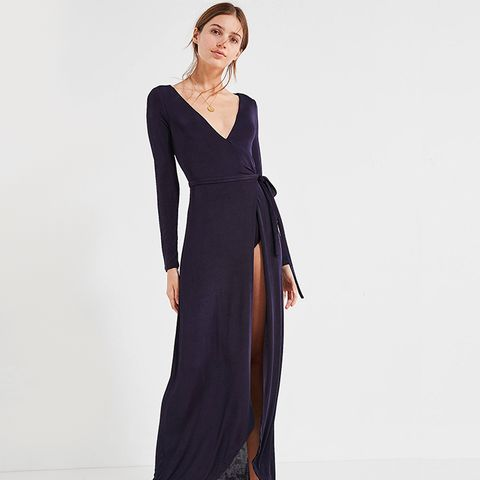 UO Studio Bodysuit Wrap Maxi Dress
