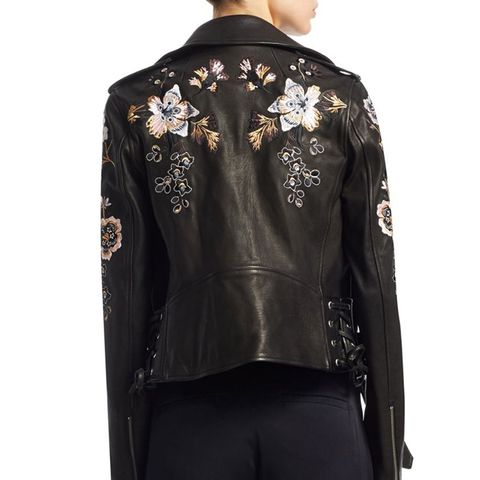 Benson Embroidered Leather Jacket
