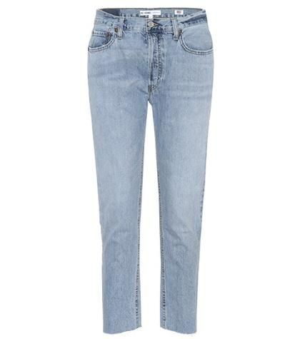 Relaxed Crop Rigid high-rise jeans