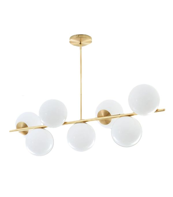 sphere stem 7light chandelier