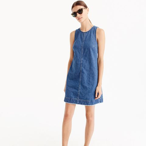 Denim Shift Dress in Juniper Wash